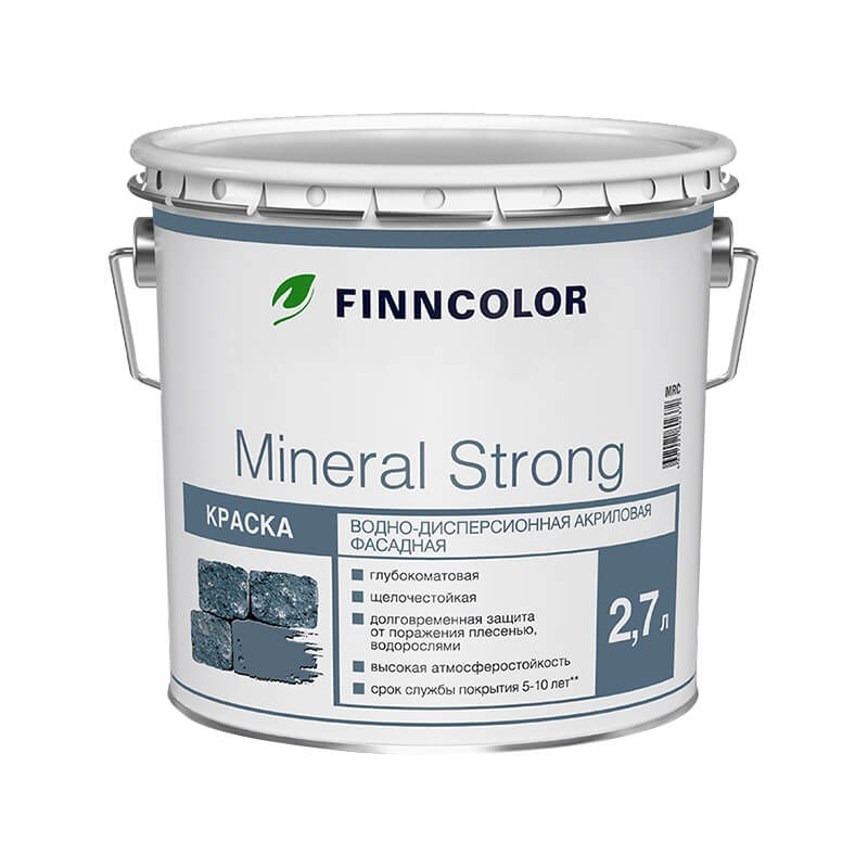 Finncolor Mineral Strong Фасадная краска 2.7л база A - фото - 1