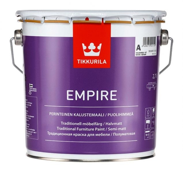 Tikkurila Empire Краска для мебели 2.7л база A - фото - 2